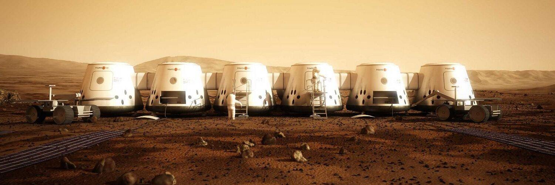 Модель начальной колонии на Марсе проекта Mars One. Изображение 1.