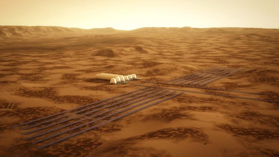 Модель начальной колонии на Марсе проекта Mars One. Изображение 5.