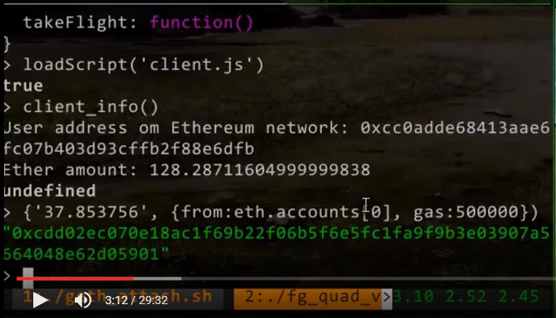 Время: 03:12. Отправляем транзакцию для добавления новой сметы в сеть Ethereum.