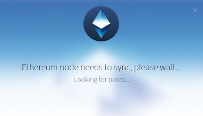 Запуск GUI клиента Mist сети Ethereum