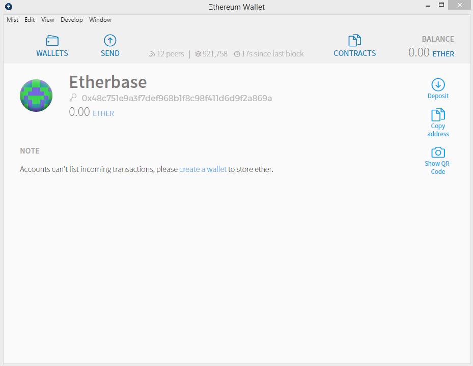 Создание smart контракта для хранения Ether с помощью Mist