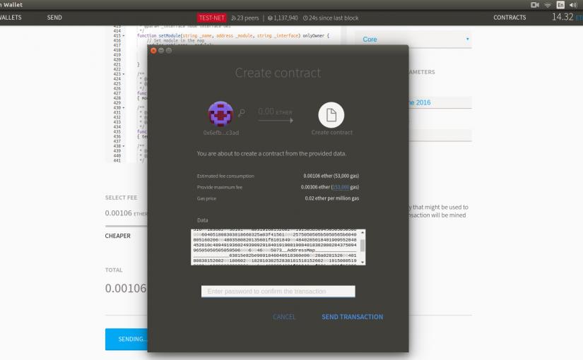 Использование библиотек при работе с автономными контрактами на платформе Ethereum