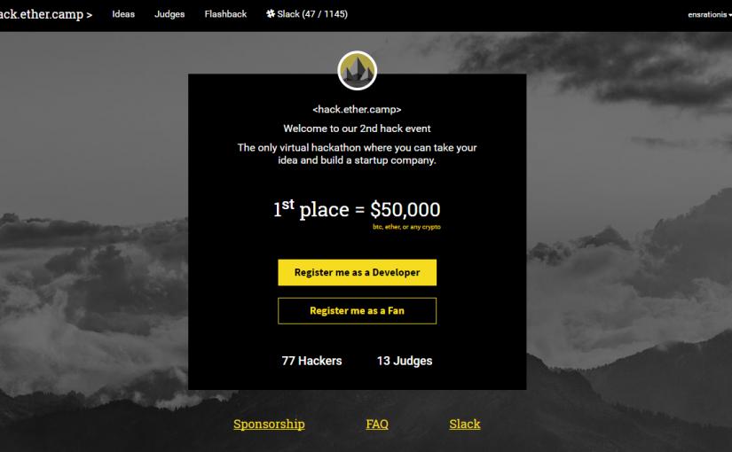 Участвуйте во втором хакатоне от hack.ether.camp
