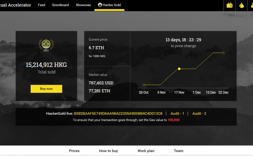 Hacker.Gold — способ поддержать виртуальный акселератор  <hack.ether.camp>