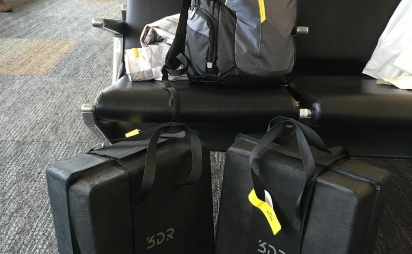 Путешествие самолётом с  дроном